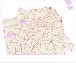 San Francisco Zip Code Map by Betashapes For San Francisco Neighborhoods Kelso U0027s Corner