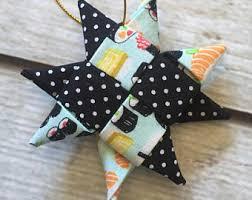 folded star ornament etsy