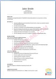 Air Force Resume Example by Optician Assistant Cover Letter