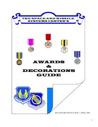 awards u0026 decoration guide