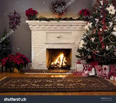 christmas tree and fireplace backgrounds u2013 happy holidays