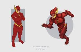the flash fan art tj clifford the flash redesign justice league fan art