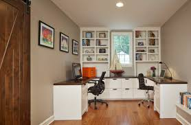 flooring elegant home office with white wall plus baseboards and