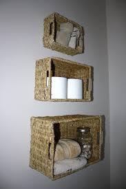 Baskets Bathroom Wall Mounted Basket Bathroom Storage My Homemade Home Bathroom