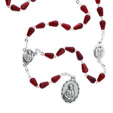 rosary of the seven sorrows tear drop seven sorrows chaplet the catholic company
