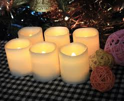 Candle Centerpiece Wedding Battery Operated Candle 6 Unscented Flameless Candles Festival