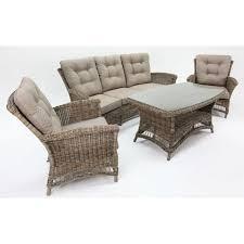 Yale Sofa Bed Yale 5 Seat Rattan Wicker Lounge Set In Twig Brown Buy Rattan