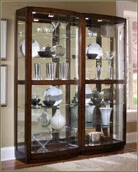 curio cabinet small narrow mahogany corner china cabinet curio