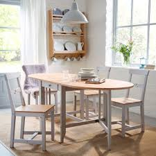 shabby chic white painted solid wood narrow dining tables for