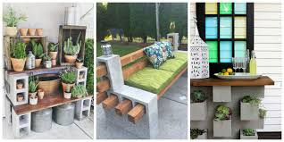 Diy Patio Furniture Cinder Blocks Genius Ways People Are Using Cinder Blocks In Their Backyards