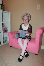 boy hair cut for grandma old lady costume roll the hair in velcro rollers put baby powder