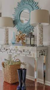 table glamorous entryway table with glass top gala 25 editorial