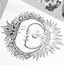 sun and moon mandala pinteres