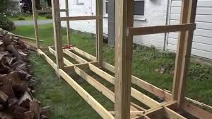 Plans For Building A Firewood Shed by How To Build A Simple Firewood Shed By Yourself Part 1 Youtube