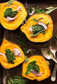 thanksgiving butternut squash soup creamy fall soup in acorn squash bowls minimalist baker recipes