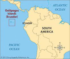 island on map galapagos islands map