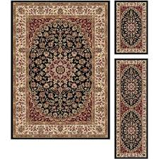 Black And Gold Rug 3 Piece Set Black Red U0026 Gold Area Rug Elegance Rc Willey