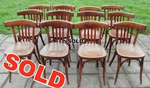 Wooden Bistro Chairs Chairs Belleville Antique Etc