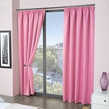 luxury thermal supersoft blackout curtains pink 45 x 54 114cm x