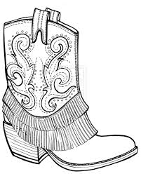 top pics of black and white cowboy boots coloring pages clipart photos
