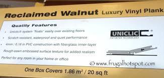 costco sale reclaimed walnut luxury vinyl plank floor tile 29 99