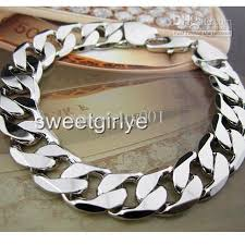 men white gold bracelet images 2018 fashion 18k white gold filled men 39 s bracelet 8 66curb chain jpg