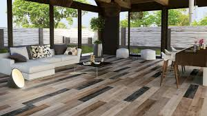 Living Room Flooring by Wood Look Tile 17 Distressed Rustic Modern Ideas