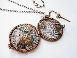 wire jewelry necklace images Wire wrapping jewelry pendant handmade with copper wire glass jpg