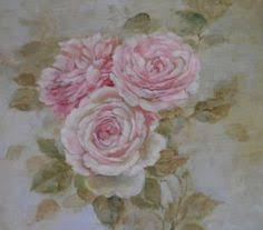 Shabby Chic Paintings by Shabby Chic Antiuqe Bluebird And Roses Wooden Panel By Debi Coules