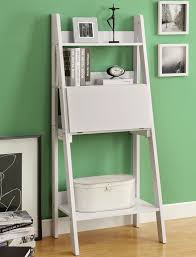 white leaning bookcase ladder doherty house fashionable white