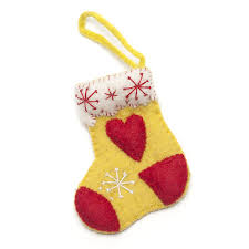 handmade felt stocking christmas decoration by felt so good