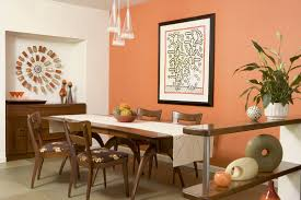 Living Room Decor Natural Colors Mid Century Design Ideas Shiny Orange Color Laminated Tv Cabinet