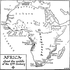 coloring map of africa coloring page