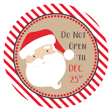 christmas stickers santa says do not open til christmas stickers gift wrapping labels