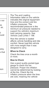 Cold Comfort Meaning Ideal Cold Tire Pressure Camaro6