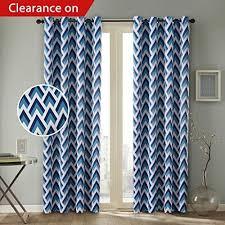 Navy Blue Curtains For Nursery Geometric Blue Curtain