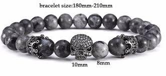 black bead charm bracelet images Black natural stones beads charm bracelet for men women webkartco jpg