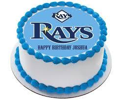 tampa bay devil rays edible birthday cake or cupcake topper