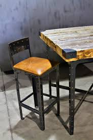 Industrial Bar Table Made Industrial Pub Height Table Bar Stools By Basin Custom