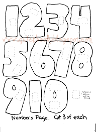numbers 1 10 coloring pages funycoloring