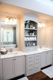 double sink vanity with middle tower double vanity with tower double vanity with center tower medium size