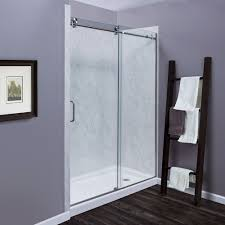marina collection 3 8 u2033 frameless roller tub and shower door