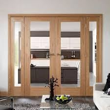 oak easi frame room divider doors system double pattern 10 clear