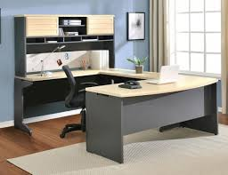 furniture furniture wood home office corner desk with keyboard