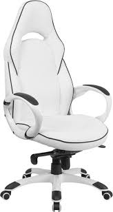 Vinyl Swivel Chair by Flash Furniture High Back White Vinyl Executive Swivel Office