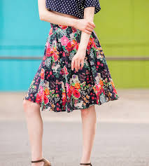 Floral Prints by Yorkshire Floral Print Circle Skirt Women U0027s Clothing