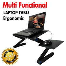 Laptop Desk Accessories Multi Functional Ergonomic Mobile Laptop Table Stand For Bed