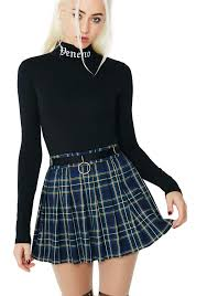 plaid skirt current mood plaid mini skirt dolls kill
