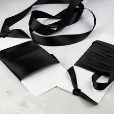 black satin ribbon black satin ribbon black ribbon wedding stationery ribbon
