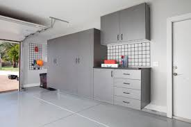 Garage Cabinet Doors Sliding Door Garage Cabinet Made From Plywood With Care